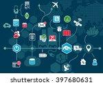 autonomous driving and... | Shutterstock .eps vector #397680631