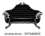 vintage baroque sofa with... | Shutterstock .eps vector #397680805