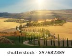 Villa In Tuscany With Cypress...
