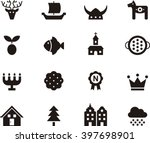 sweden flat glyph icons | Shutterstock .eps vector #397698901