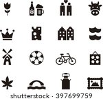 Netherlands Flat Glyph Icons