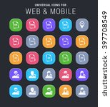 25 universal icons for web and...