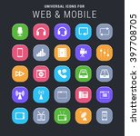 25 universal icons for web and... | Shutterstock .eps vector #397708705