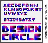 vector circle dotted font.  | Shutterstock .eps vector #397709725
