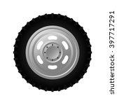 gray realistic car wheel on... | Shutterstock .eps vector #397717291