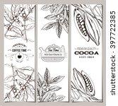 coffee  tea  cocoa banner... | Shutterstock .eps vector #397722385
