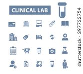 clinical lab icons  | Shutterstock .eps vector #397722754