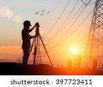 silhouette  engineer was...   Shutterstock . vector #397723411
