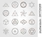 japan religious symbols sacred... | Shutterstock .eps vector #397729399