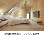 luxurious bedroom in modern...   Shutterstock . vector #397731895