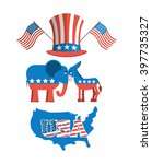 set elections in america. uncle ... | Shutterstock .eps vector #397735327