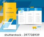 brochure design template tri... | Shutterstock .eps vector #397738939