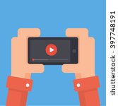 watch videos on your phone.... | Shutterstock .eps vector #397748191