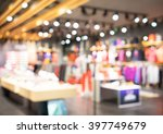 blurred showcases fashion... | Shutterstock . vector #397749679