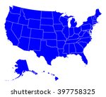 map of usa | Shutterstock .eps vector #397758325