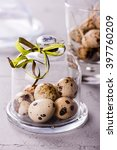 quail's eggs under a glass... | Shutterstock . vector #397760209