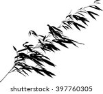 Illustration With Black Bamboo...