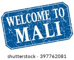 welcome to mali blue square... | Shutterstock .eps vector #397762081