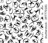 black and white seamless... | Shutterstock .eps vector #397770181