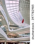 Small photo of BEIJING-JULY 18, 2015. Design Interior Livat shopping mall. Opened late 2014, LIVAT is an impressive feat of engineering and design. It is, after all, developed and owned by Inter IKEA Center Group.