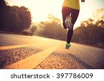 young fitness woman runner... | Shutterstock . vector #397786009