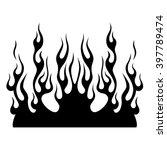 flame vector tribal pattern... | Shutterstock .eps vector #397789474