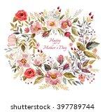 vintage vector greeting card... | Shutterstock .eps vector #397789744