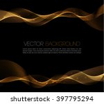 abstract gold luxury wave... | Shutterstock .eps vector #397795294