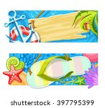 summer sea beach rest banners... | Shutterstock .eps vector #397795399
