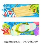 summer sea beach rest banners... | Shutterstock .eps vector #397795399