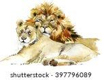 Lion. Lion Pride Watercolor...