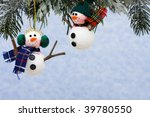 snowmen ornaments hanging on a... | Shutterstock . vector #39780550