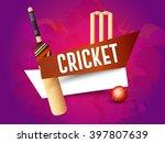 vector illustration of cricket... | Shutterstock .eps vector #397807639