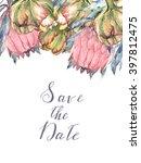 watercolor floral bridal... | Shutterstock . vector #397812475