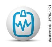 blue cardiogram clipboard icon... | Shutterstock .eps vector #397814401