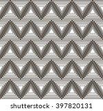 monochrome pattern of triangles ... | Shutterstock .eps vector #397820131