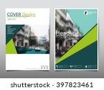 green annual report brochure...   Shutterstock .eps vector #397823461