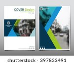 blue annual report brochure... | Shutterstock .eps vector #397823491