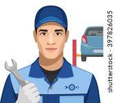 profession  car mechanic   Shutterstock .eps vector #397826035