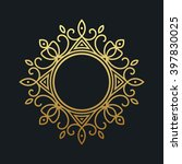 gold elegant frame. line art... | Shutterstock .eps vector #397830025