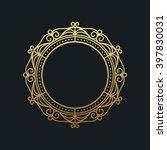 gold elegant frame. line art... | Shutterstock .eps vector #397830031
