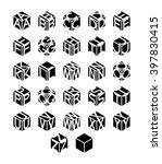 cubic alphabet set. vector... | Shutterstock .eps vector #397830415