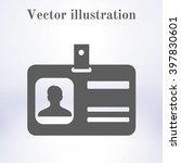 identification card icon. flat... | Shutterstock .eps vector #397830601