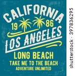 los angeles typography for t... | Shutterstock .eps vector #397836295