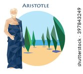 ancient greek scientist ... | Shutterstock .eps vector #397843249