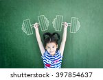 empowering woman and girl... | Shutterstock . vector #397854637