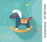 Rocking Horse  Icon   Vector...
