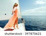 Luxury Woman Pareo Yachting...