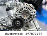 close up of car engine | Shutterstock . vector #397871194