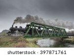 Steam Train Passes Over An Iro...